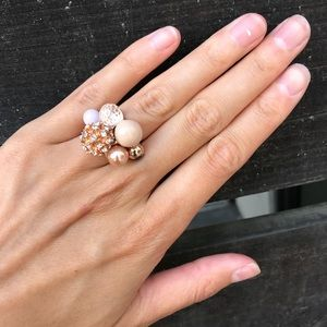 J. Crew Rose Gold Cluster Ring